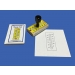 Celsius Thermometer Rubber Stamp and Ink Pad ● M-151